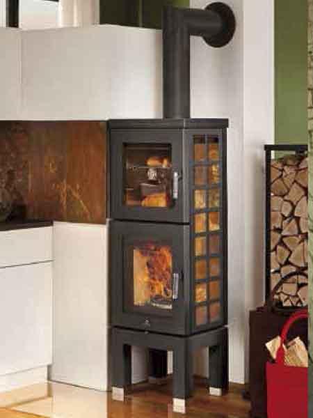 kamin und ofen max blank pellet holz kombi fen estufas. Black Bedroom Furniture Sets. Home Design Ideas